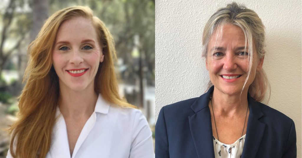 Side by side portrait of Shannon Lawrence and Sheri Jennings